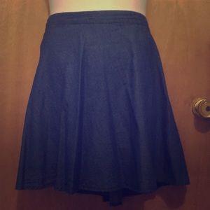 🟤 3/$25 Blue light blue denim skirt